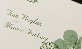 Tom and Maeve Hughes Wedding Invitation